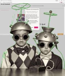 deux tits garçons déguisés étape 2