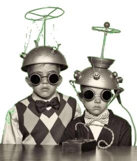deux tits garçons déguisés essai transparence