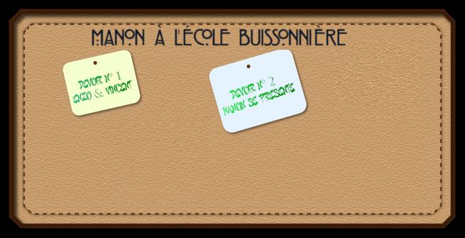 Bannière Manon à l'école buissonnière devoirs 1&2xcf