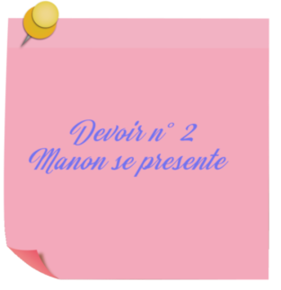Manon devoir n° 2 moyen